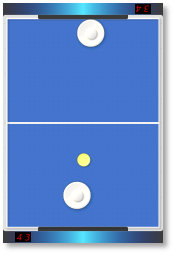 Air Hockey game screen